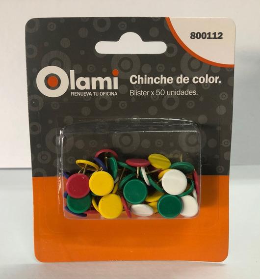 50 Chinches De Colores Olami