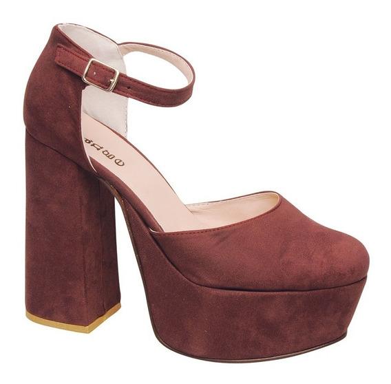 Zapato Plataforma Taco Palo C/pulsera - Ora960
