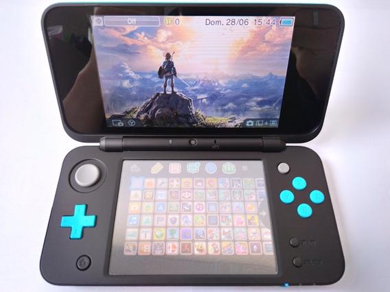 New Nintendo 2ds Xl Edição Azul E Preto 32gb 300 Jogos