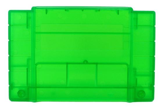 Carcaça Snes Para Cartucho Super Nintendo Case Verde Novo