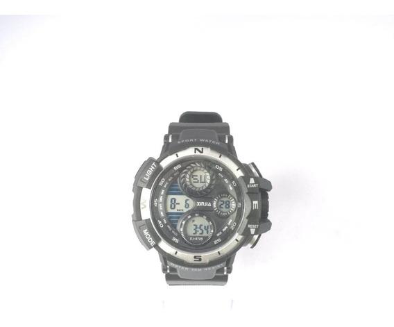 Relógio Masculino Preto C Prata