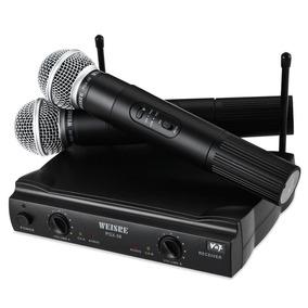 Microfone Sem Fio Duplo Profissional Pgx58 Karaoke Igreja