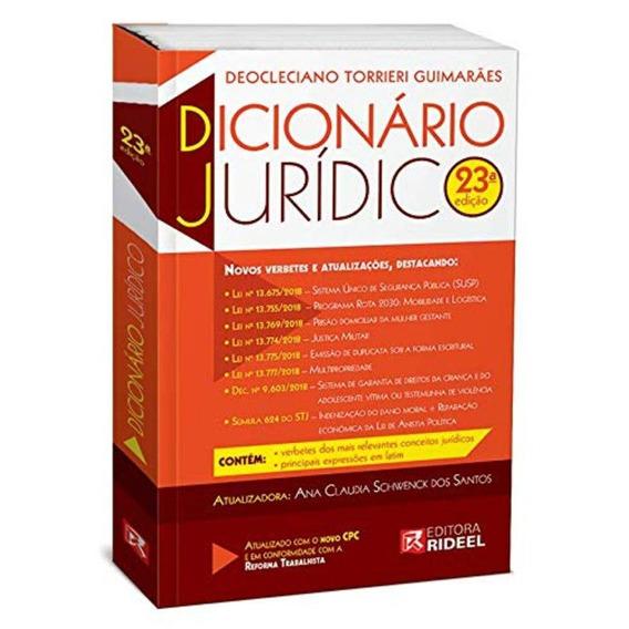 Dicionário Universitário Juridico -23ª Edição 2019 Torrieri