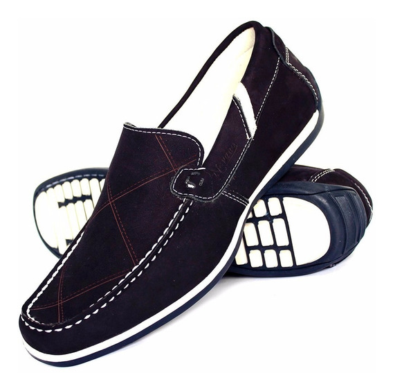 Sapato Tenis Sapatilha Masculino Moderno Casual Em Couro