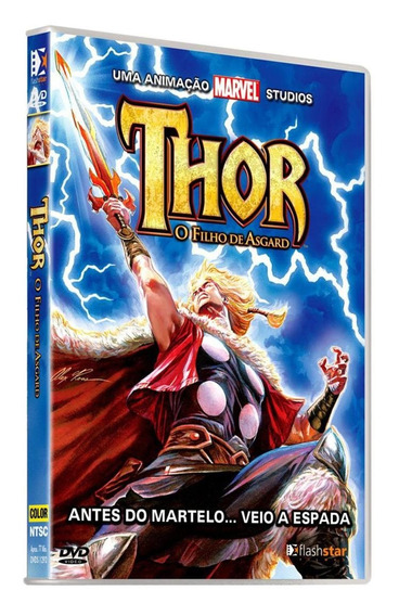 Thor O Filho De Asgard Dvd Anime Dublado 5.1 Frete R$ 12,00