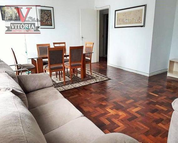 Apartamento Centro De Curitiba - 3 Dormitórios Sendo 01 Suíte - 01 Vaga De Garagem; Próximo Aos Shoppings Cristal/omar, Muitas Opções De Restaurantes - Ap1445