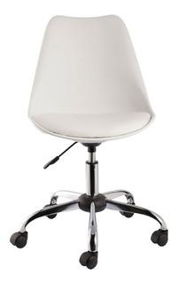 Cadeira Eames Office Base Metal Sem Braço