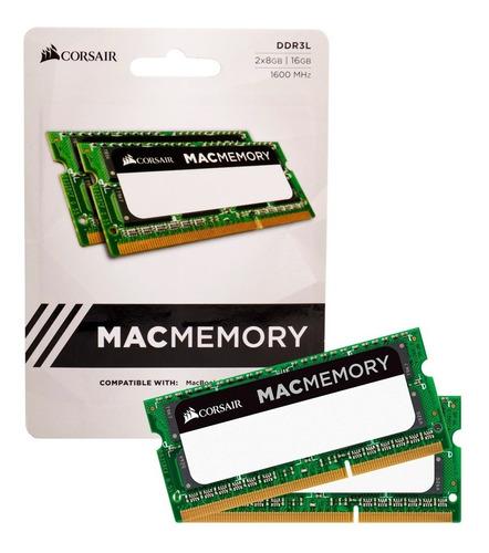 Imagem 1 de 8 de Corsair Macmemory 16gb 2x8gb Ddr3l 1600mhz iMac Macbook