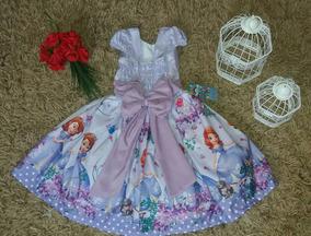 Vestido Festa Infantil Daminha Tam 01 Ao 10 Anos Envio/g