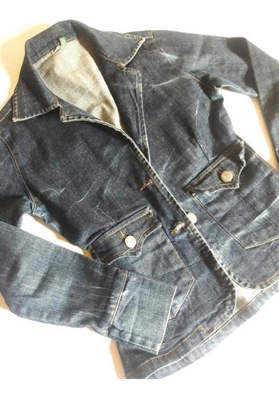 Jaqueta Blazer Em Jeans Feminino P