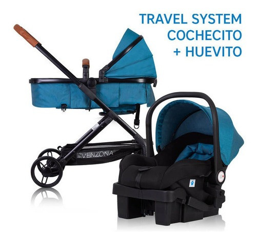 Cochecito + Huevito Con Base Auto + Moises Venzona Briccone