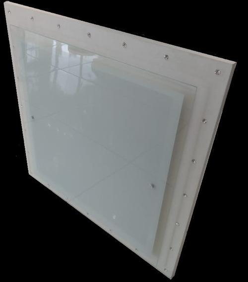 Plafon De Madeira Sobrepor Com Cristal 43x43!