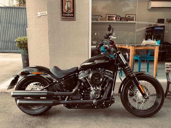 Harley Davidson Street Bob 2018 Preta 8 Mil Km