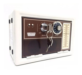 Alcancia Vintage Retro Radio Años 60 Metal Llave Combinacion