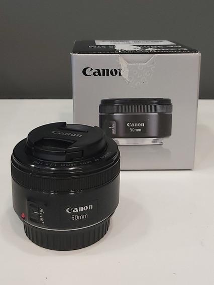 Lente Canon 50mm 1.8 Semi Nova