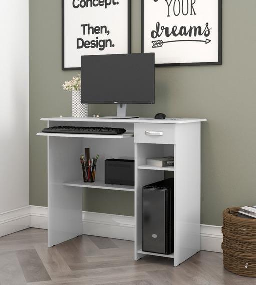 Mesa De Computador Viena Branco Ej