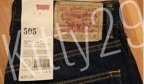 Levis 505 Regular Fit Pantalon De Mezclilla 100% Algodón
