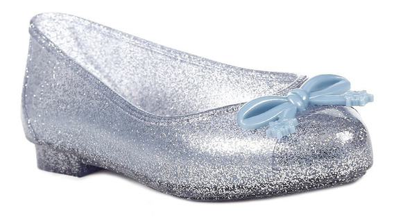 Sapatilha Frozen Infantil Para Menina - Azul/prata