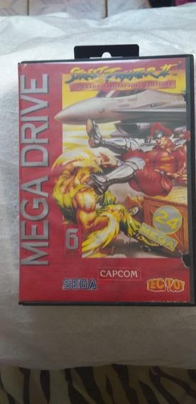 Street Fighter 2 Mega Drive Original Na Caixa, 24 Mb