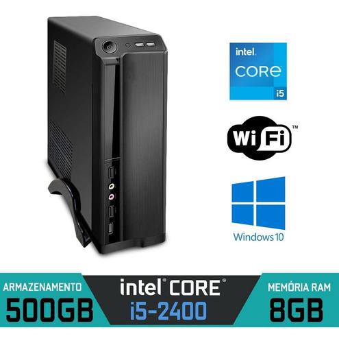 Imagem 1 de 8 de Computador Slim Intel Core I5-2400 Ram 8gb Hd 500gb Win 10