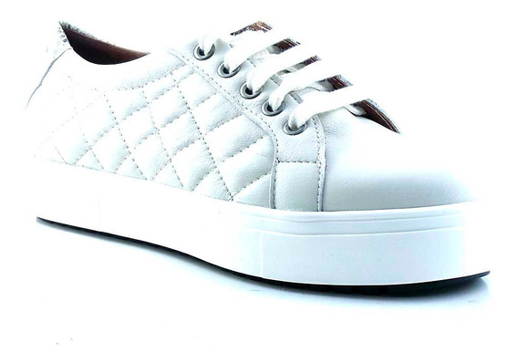 Zapatilla Mujer Cuero Briganti Plataforma Zapato - Mczp05239