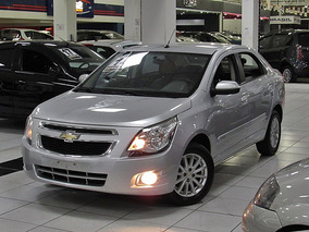 Chevrolet Cobalt 1.4 Ltz 2014 Prata Completo Couro