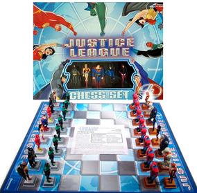 Jogo De Xadrez Dc Liga Da Justiça 32 Peças Pressman Raro