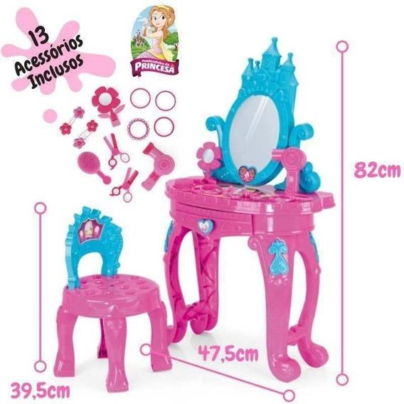 Penteadeira Da Princesa Infantil Bebês Menina 13 Acessórios
