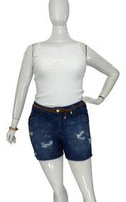 Shorts Jeans Plus Size Feminino Tamanhos Grandes 44 Ao 58