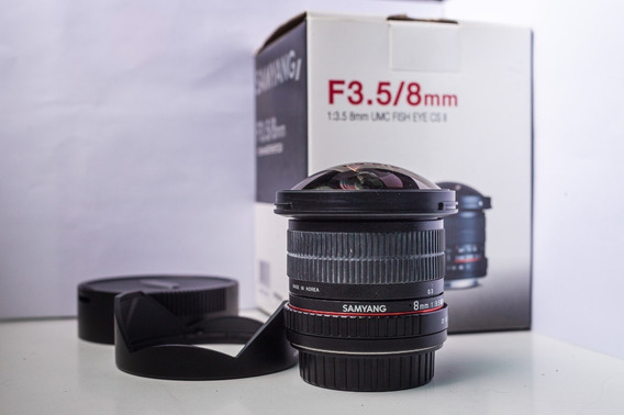 Lente Samyang 8mm Fish Eye F/3.5 Canon