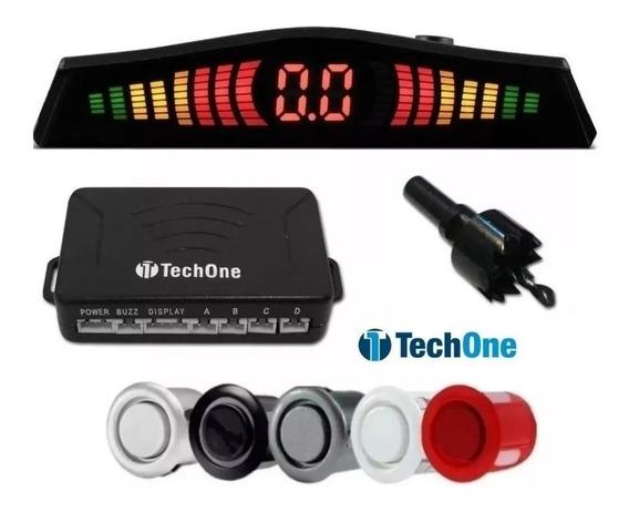 Sensor Estacionamento Re 4 Sensores Display Led Sinal Sonoro