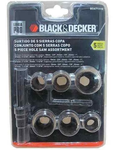 Sierra Copa 5pz.3/4'-7/8'-1'-11/16'-13/4' B&d