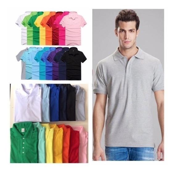 Camisa Polo 100% Poliester 13 Cores