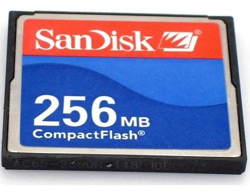 Imagem 1 de 1 de Cartão De Memória Compact Flash (cf) Sandisk 256mb