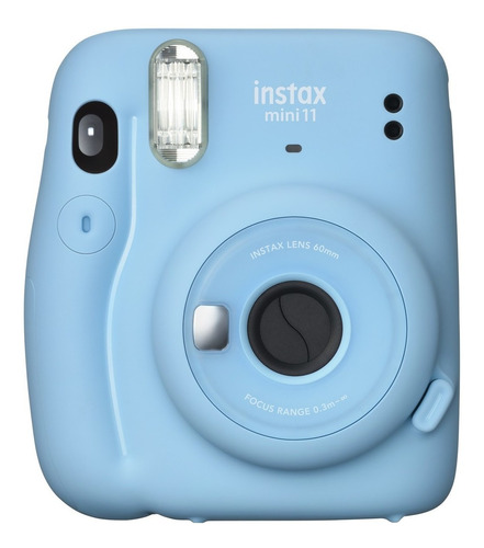 Kit Câmera Fujifilm Instax Mini 11 Azul + 20 Fotos Pack