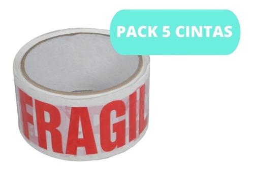 Pack 5 Cintas Fragil Cinta De Embalaje / Cart Paper