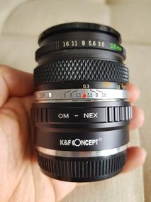 Lente Olympus 28mm 3.5 Zuiko + Adaptador Para Sony