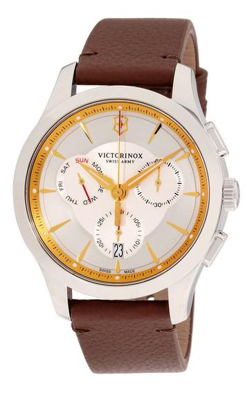 Relógio Masculino Victorinox 241750 Pulseira De Couro