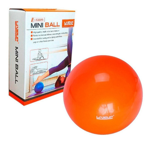 Overball 25 Cm Orange Live Up Pilates Fitness Fisioterapia