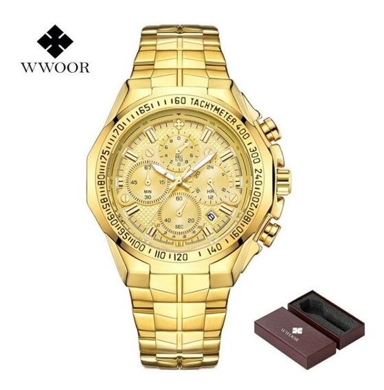 Relógio Masculino Wwoor 8868 Original Cronógrafo