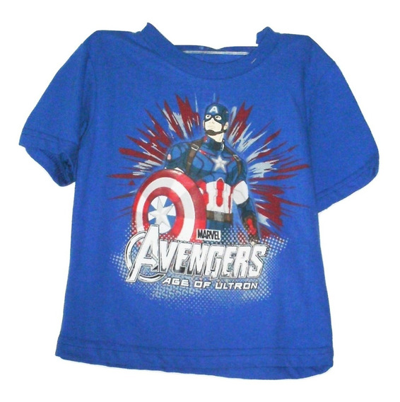 Playera Niño Capitan America Avenger. Camiseta Talla 3 $259a