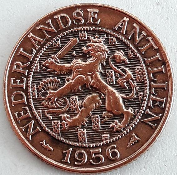 Antillas Holandesas 2 Y 1/2 Centavos Del Año 1956 Km #5 Xf