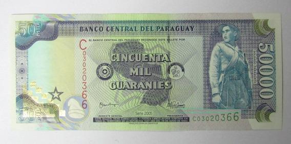 Paraguay Billete 50000 Guaranies Año 2005 Soldado Casa De La Independencia Pick: 225a Xf++