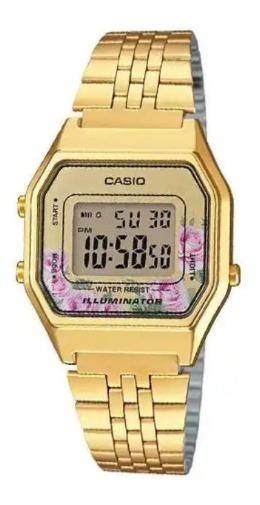 Relógio Digital Casio Vintage La680wga-4cdf Feminino Pulseir