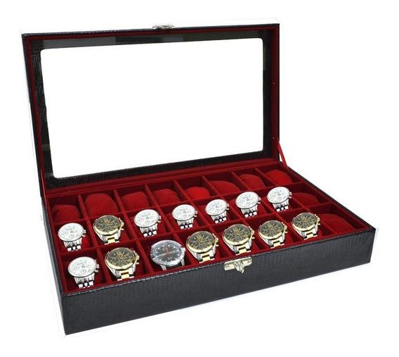 Porta Relógios Com Capacidade Para 24 Relógios