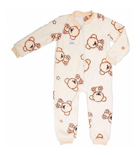 Mameluco Pijama Termica De Microfibra Para Bebe Teddy Bear