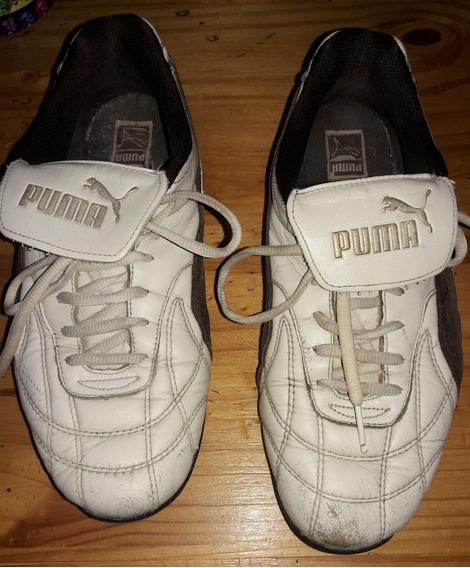 Zapatillas Puma De Cuero/gamuza Mujer Talle 38