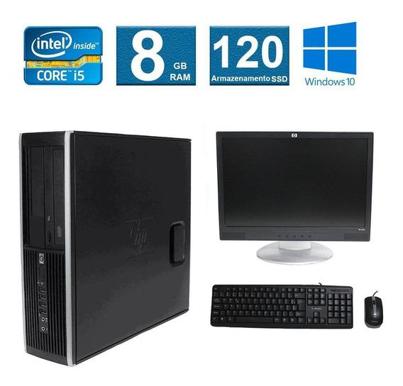 Computador Hp Elite 8100 I5 8gb 120ssd Monitor 17 Polegadas
