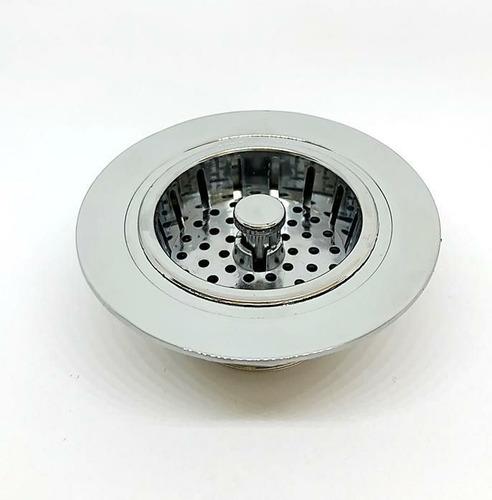 Imagem 1 de 5 de Válvula Americana Para Pia De Cozinha, Peça De Metal Cromado