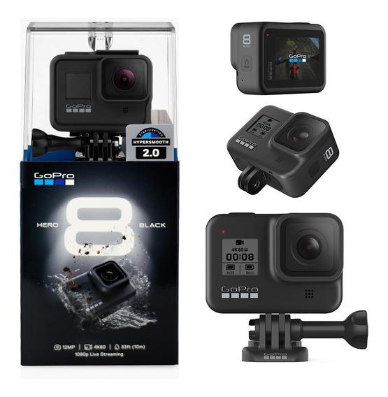 Câmera De Ação Gopro Hero 8 Black Com W-fi Resolução 4k 12mp
